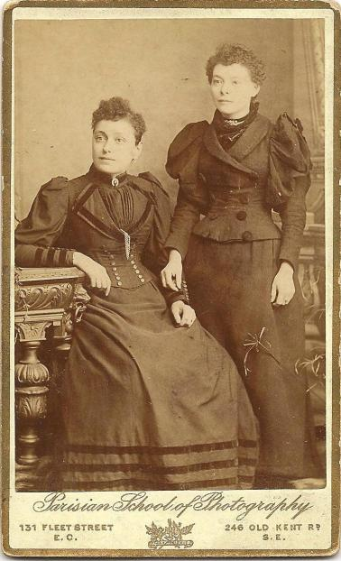 Chapter 4 - Mary Anne Evans Deverill seated, with Jennie Evans Vanson