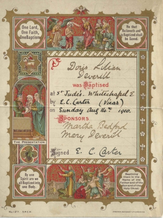Chapter 7 - Doris' christening certificate