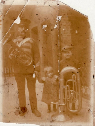 Chapter 5 - Harry Deverill in his bandsman uniform, with Ernie, centre, and Joe, circa 1905