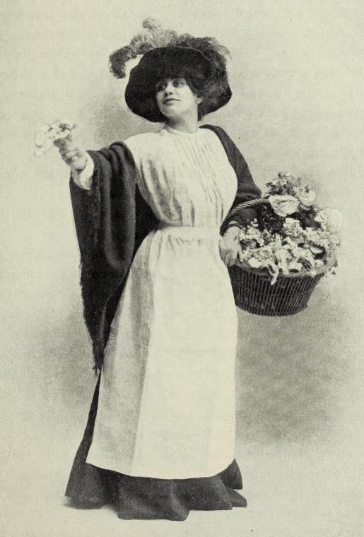 Miss Malvery as a Flower Girl