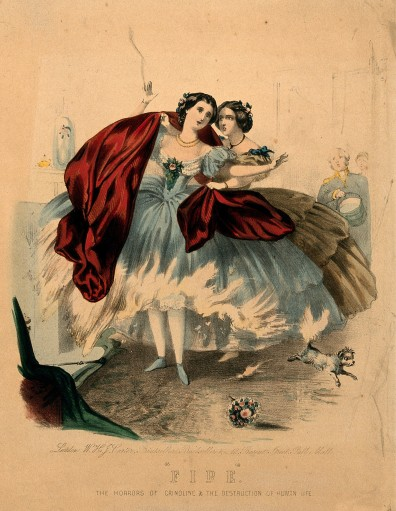 crinoline fire - wellcome library