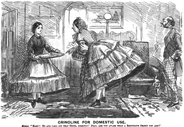 Maid_and_mistress_in_crinoline._Punch_Almanack_for_1862-2