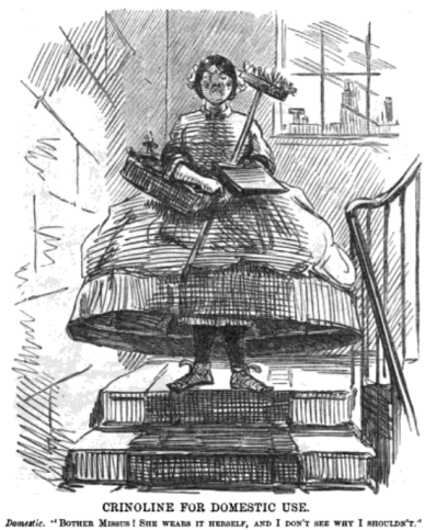 Maid_in_crinoline._Punch_Almanack_for_1862