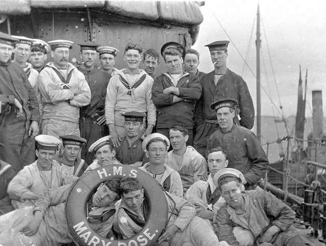 Chapter 12 - Some of the crew members of HMS Mary Rose, circa 1916