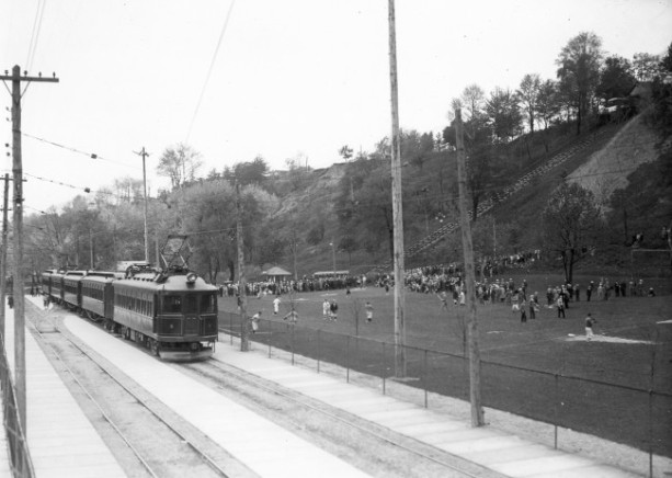 L&PS Railway at the foot of Picnic Hill