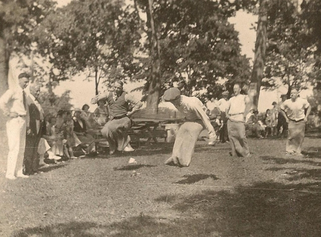 McCormick's picnic potato sack race