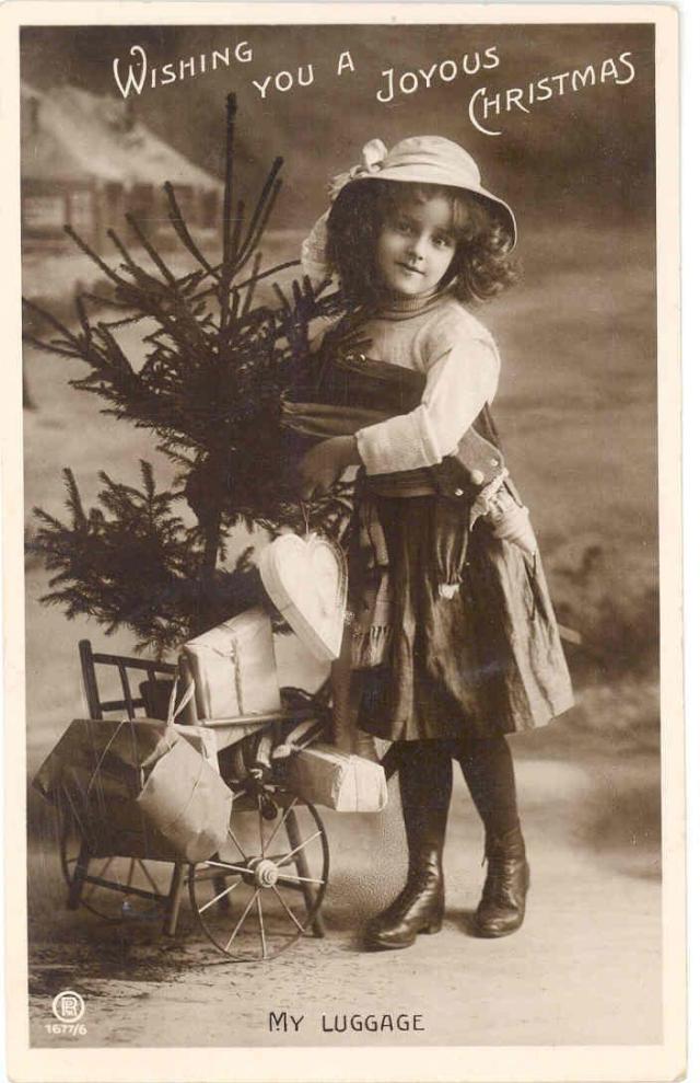 christmas card 1900s