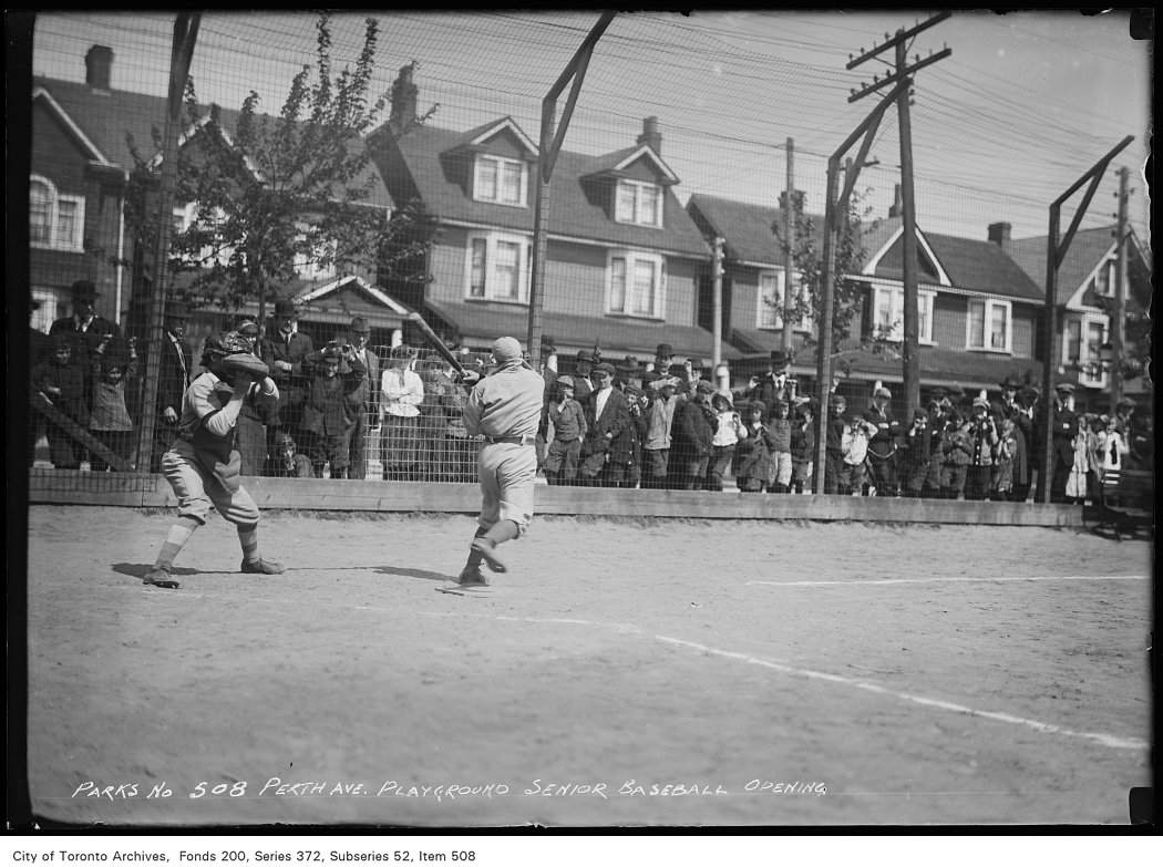 Perth Avenue Playground — Senior Baseball, Opening