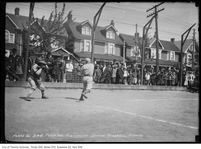 Perth Avenue Playground — Senior Baseball, Opening