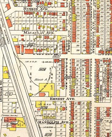 1913 Fire Insurance Plan, Toronto
